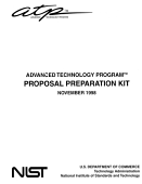 Advanced Technology Program Proposal Preparation Kit