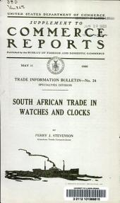 South African trade in watches and clocks