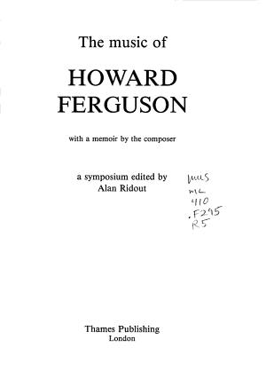 The Music of Howard Ferguson