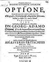De optione, praes: Georg Adam Struve