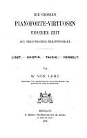 Die gro  en Pianoforte Virtuosen unserer Zeit aus pers  nlicher Bekanntschaft PDF