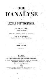 Cours d'analyse de l'ecole polytechnique: 2, Volume2