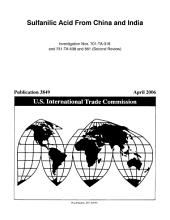 Sulfanilic Acid from China and India