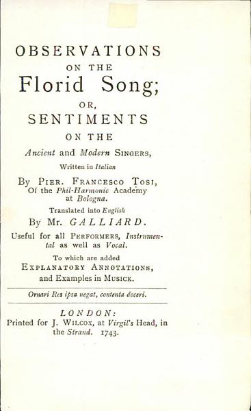 Download Observations on the Florid Song Book
