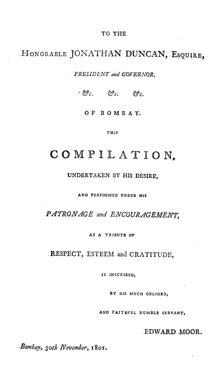 A compilation of all the ... orders ... 1750 to ... 1801 ... of the Bombay army, by E. Moor