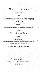De compositione verborum liber