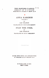 The Harvard Classics Shelf of Fiction, Volume 17: Anna Karenina