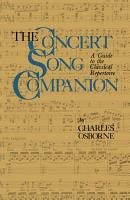 The Concert Song Companion PDF