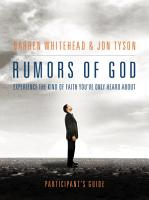 Rumors of God Participant s Guide PDF