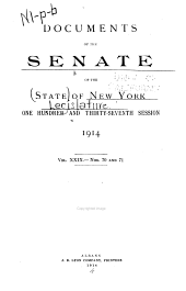 Documents of the Senate of the State of New York: Volume 29