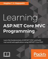 Learning ASP NET Core MVC Programming PDF