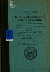 Transactions of the National Association of Cotton Manufacturers: Issue 95