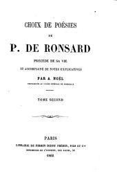 Choix de poésies de P. de Ronsard: Volume2