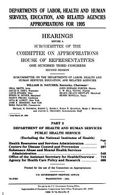 Departments of Labor  Health and Human Services  Education  and Related Agencies Appropriations for 1995 PDF