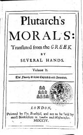 Plutarch's Morals: Volume 2