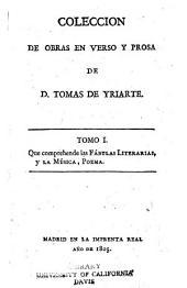 Coleccion de obras en verso y prosa: Volumen 1