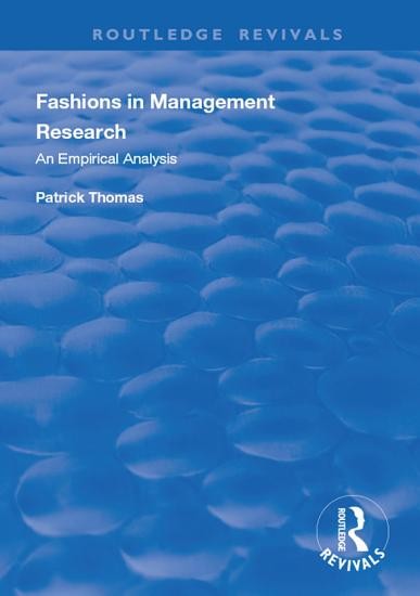 Fashions in Management Research PDF