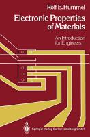 Electronic Properties of Materials PDF