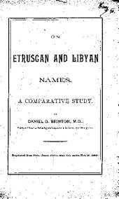 On Etruscan and Libyan Names: A Comparative Study