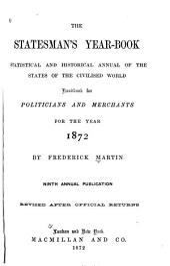 The Statesman's Year-book: Volume 2; Volumes 5-6; Volume 9