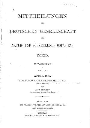 Tokugawa Gesetz Sammlung PDF