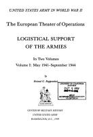 Logistical Support of the Armies  May 1941 September 1944 PDF