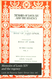 Memoirs of Louis XIV and the Regency: Volume 1