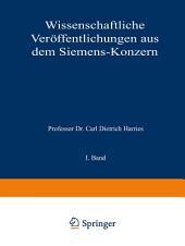Wissenschaftliche Veröffentlichungen aus dem Siemens-Konzern: I. Band