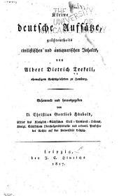 Kleine deutsche Aufsätze, grösstentheils civilistischen und antiquarischen Inhalts