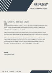 JURISPRUDENȚĂ - DREPT COMPARAT QUÉBEC: VOL. I AUTORITATEA PĂRINTEASCĂ – ianuarie 2018