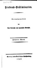 Friedens Praeliminarien PDF