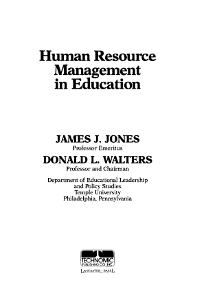 Human Resource Management in Education PDF
