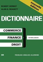 Dictionary of Commercial  Financial and Legal Terms   Dictionnaire des Termes Commerciaux  Financiers et Juridiques   W  rterbuch der Handels   Finanz  und Rechtssprache PDF