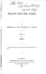 Tracts For The Times For 1833 1834 Tract No 1 46 Records Of The Church No I Xviii New Ed 1840 Book PDF