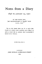 Notes from a Diary: 1896 to January 23, 1901, Volume 2