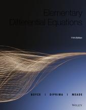 Elementary Differential Equations, 11th Edition: Edition 11