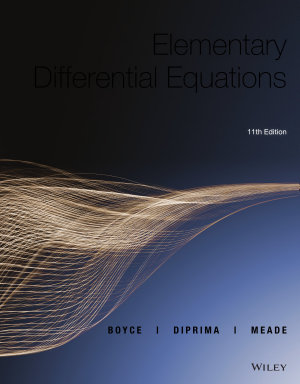 Elementary Differential Equations  11th Edition