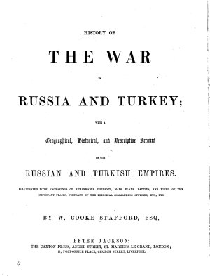 History of the war in Russia and Turkey PDF