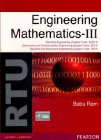 Engineering Mathematics III    Subject Code  3EX1  3EC1  3EE6 1  For RTU PDF