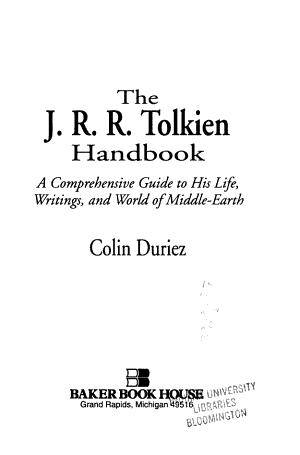 The J R R  Tolkien Handbook
