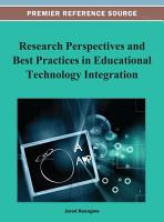 Research Perspectives and Best Practices in Educational Technology Integration PDF