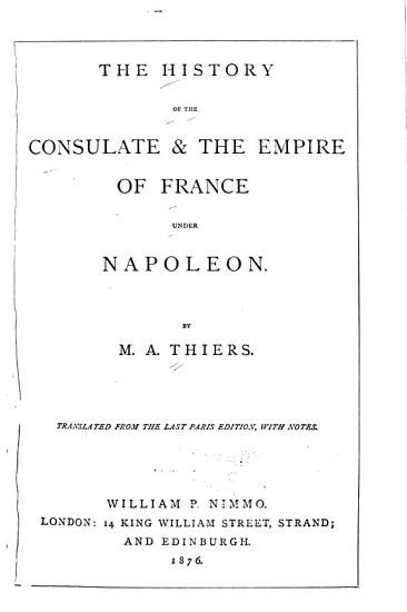 The History of the Consulate and the Empire of Napoleon PDF
