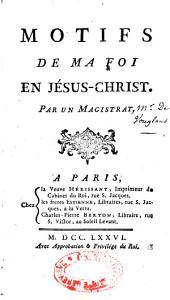 Motifs de ma foi en Jésus-Christ