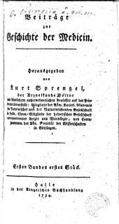 Beiträge zur Geschichte der Medicin