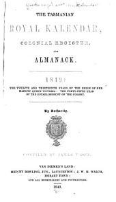 Wood's Royal Southern Kalendar, Tasmanian Register and General Australasian & East Indian Official Directory ...