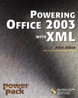 Powering Office 2003 with XML PDF
