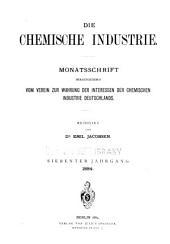 Die chemische industrie: Band 7