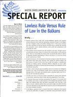 Lawless Rule Versus Rule of Law in the Balkans PDF