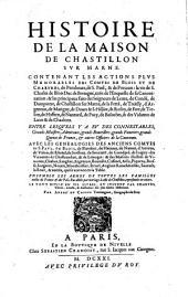 Histoire de la maison de Chastillon sur Marne