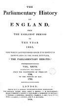 Cobbett's Parliamentary History of England: 1788-1789